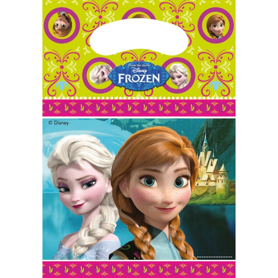 Frozen thema feestzakjes 6 stuks (bron: Piraten-feestwinkel)