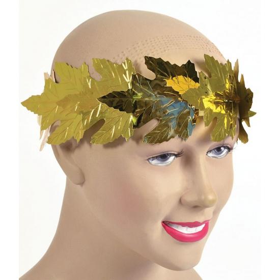 Lauwerkrans met gouden blaadjes