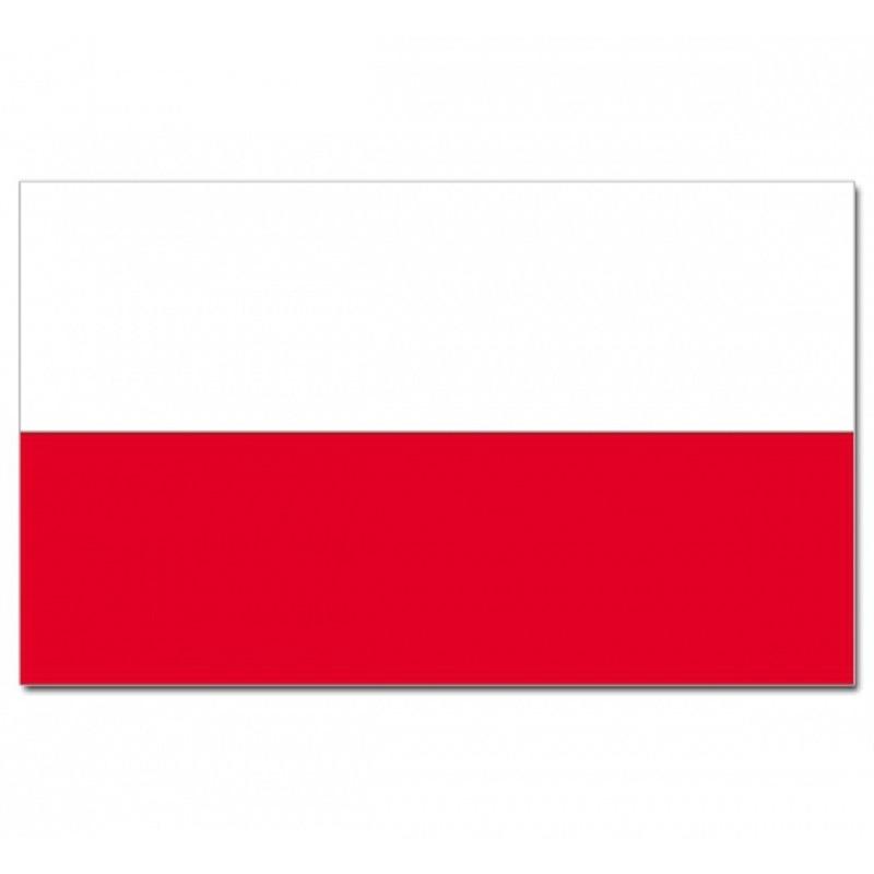 Luxe vlag Polen met wapen