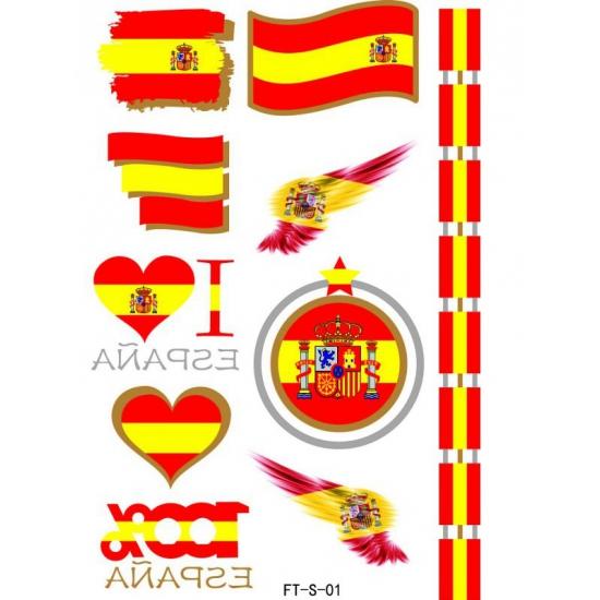 Verkleedaccessoires Geen 3D Tattoos Spanje