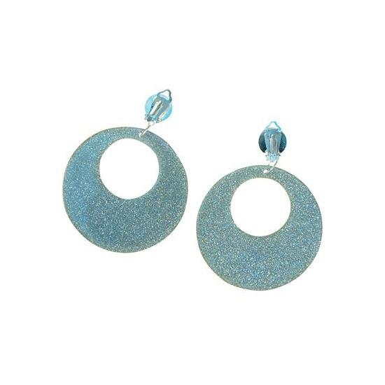 60s disco oorbellen zilver