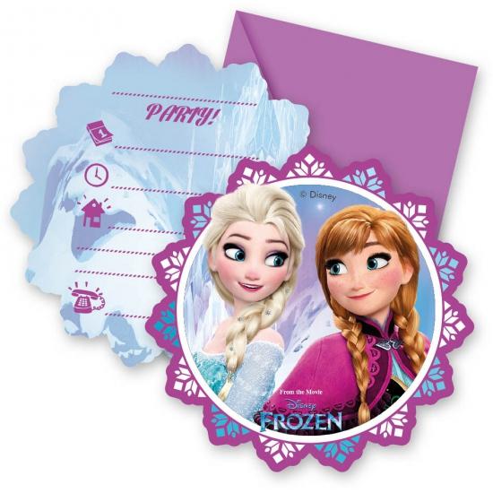6x Frozen uitnodigingen