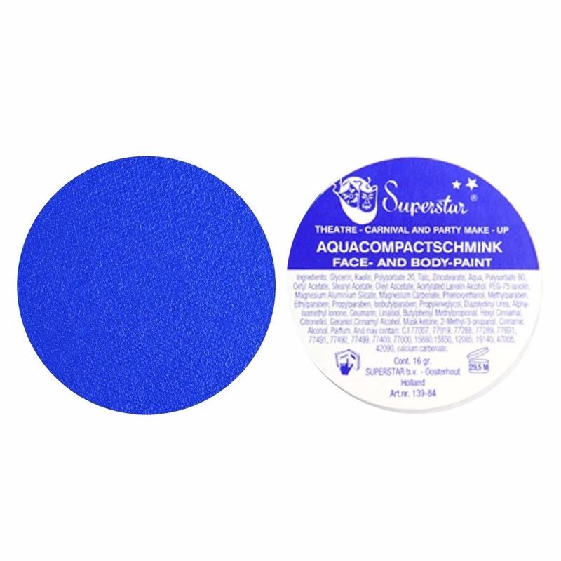 Verkleedaccessoires Superstar Aqua schmink blauw