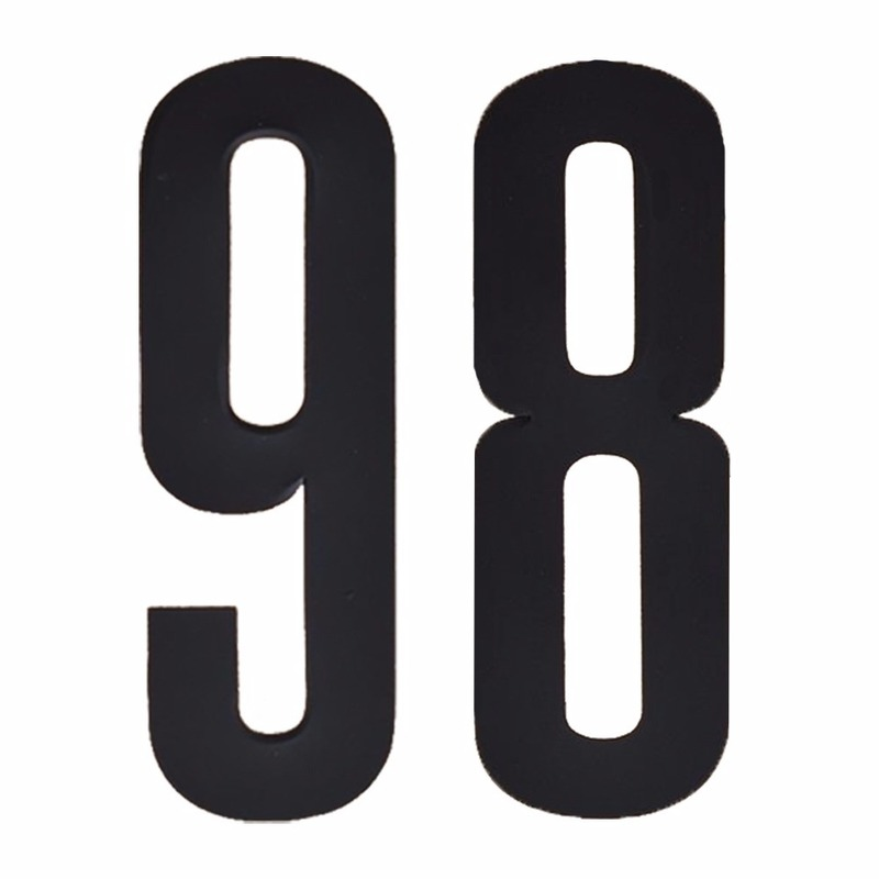 Cijfer sticker 98 zwart 10 cm