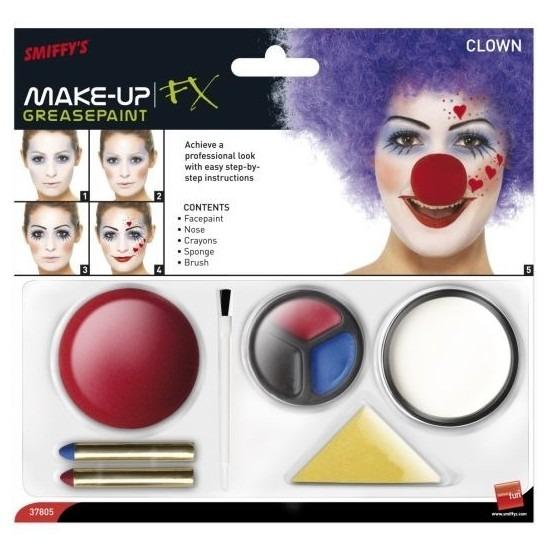 Clown schmink set inclusief clownsneus Geen Schitterend