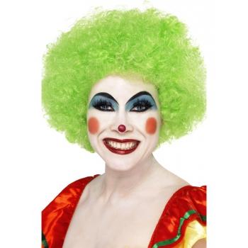 Crazy clown pruik groen