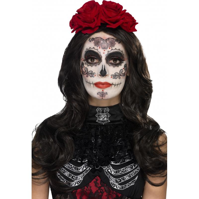 Halloween Zombie Schmink.Day Of The Dead Schmink Set Glamour In De Piraten Feestwinkel