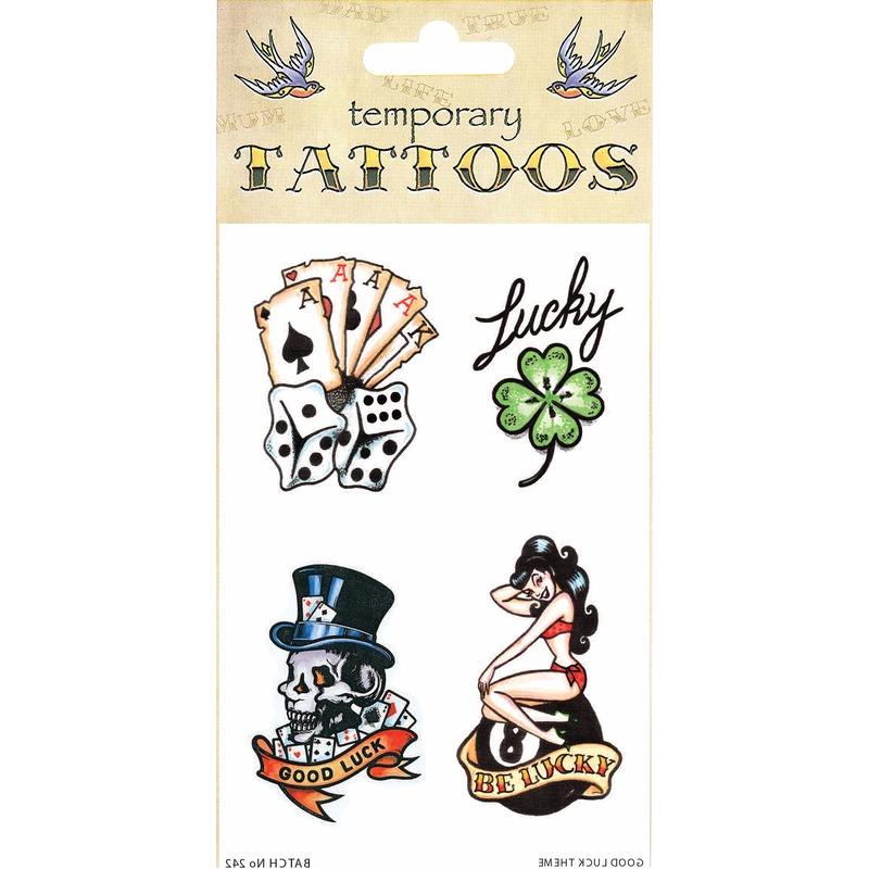 Good luck tattoos 4 stuks Geen Verkleedaccessoires