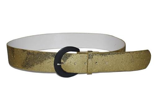 Gouden glitter riem 110 cm