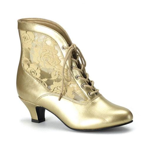 Gouden middeleeuwse dames schoenen