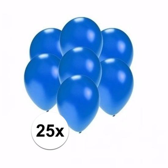 Kleine metallic blauwe ballonnen 25 stuks