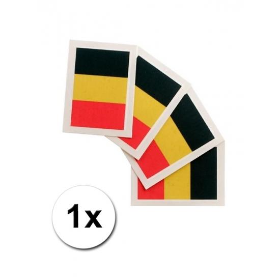 Landen versiering en vlaggen Geen Landen vlag tattoo Belgie