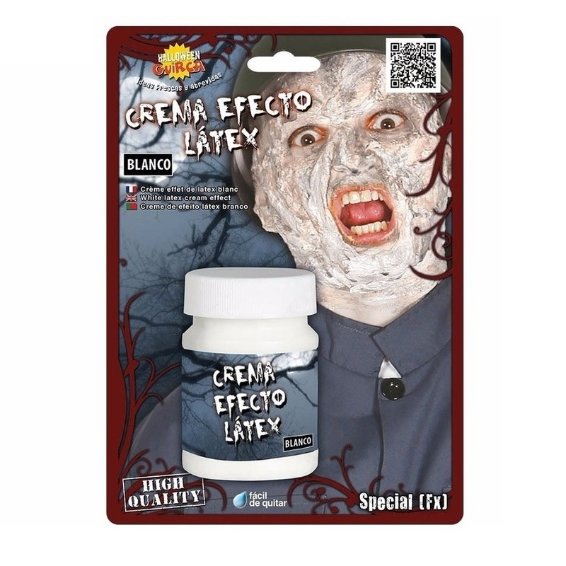 Verkleedaccessoires Geen Latex effect creme make up