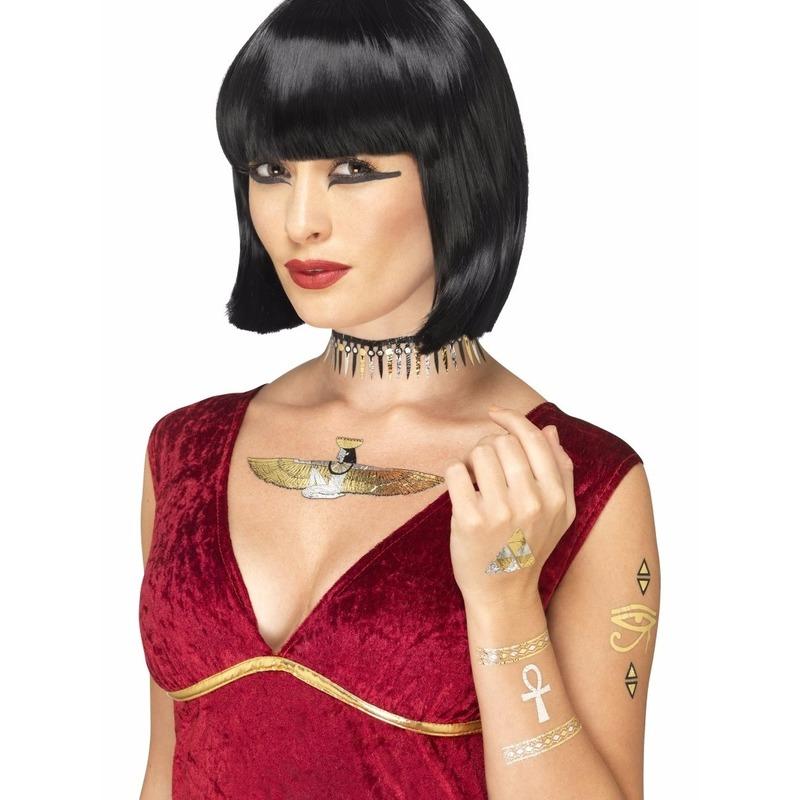 Smiffys Metallic tattoos Egyptisch thema 7 stuks Verkleedaccessoires