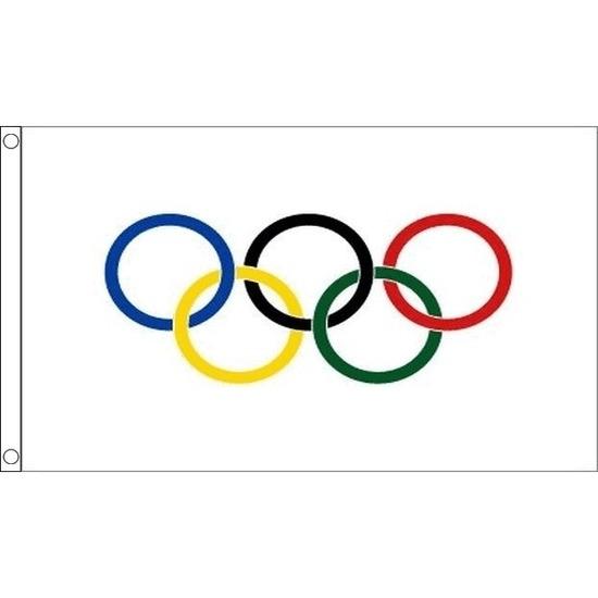 Olympische vlag 90 x 60 cm