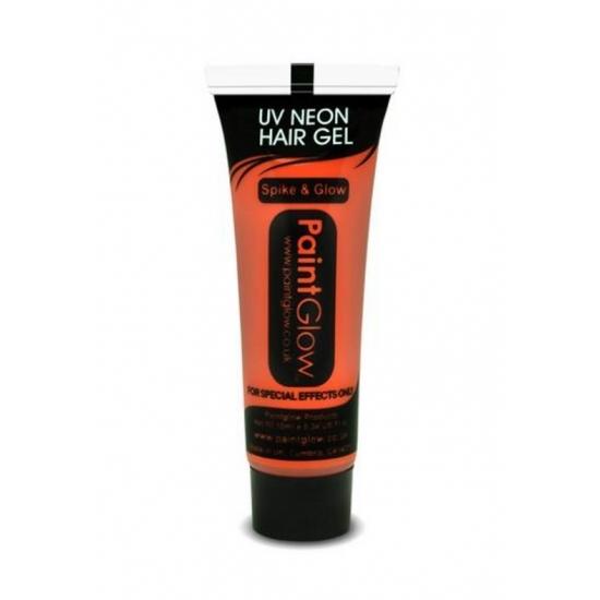 Verkleedaccessoires PaintGlow Oranje haar gel UV