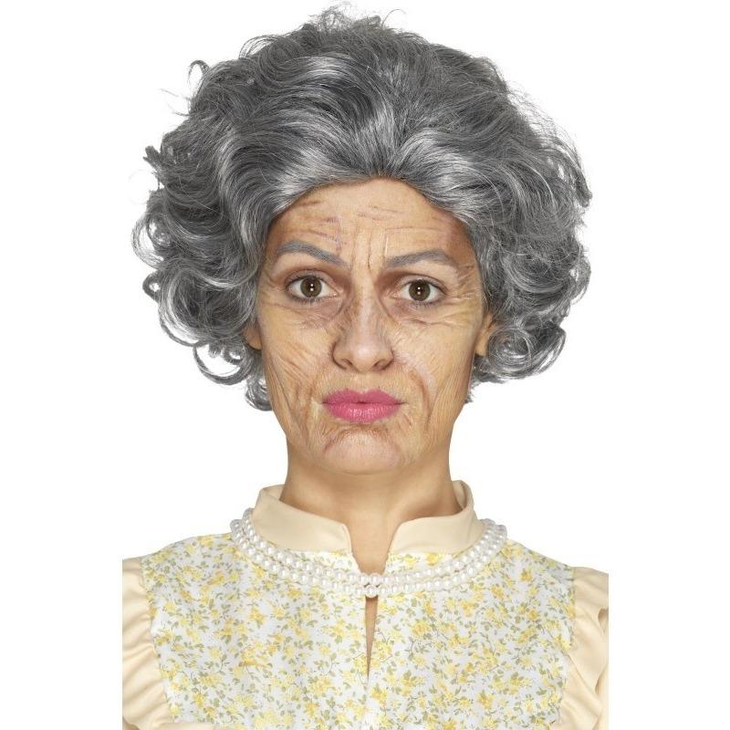 Smiffys Oude dame oma schminkset 4 delig Verkleedaccessoires