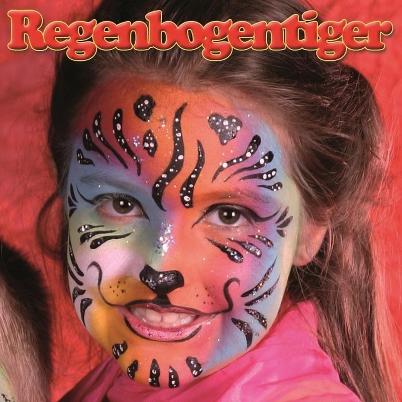 Verkleedaccessoires Geen Regenboog tijger schminken schminkset 6 delig