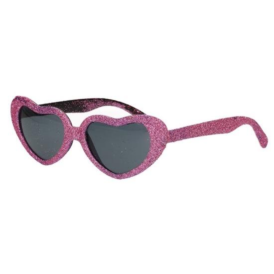 9a7b8883821b91 Roze hartjes bril met glitter € 3.95. Bij  piraten-feestwinkel.nl