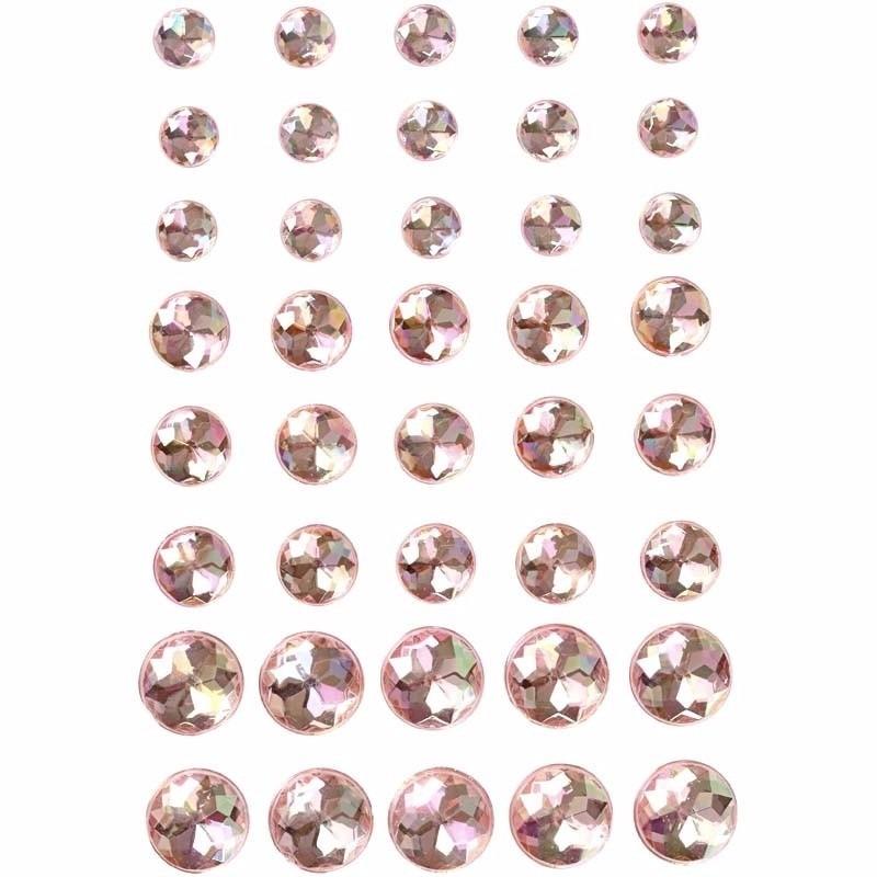 Verkleedaccessoires Geen Roze plak parels 40 stuks voor het gezicht