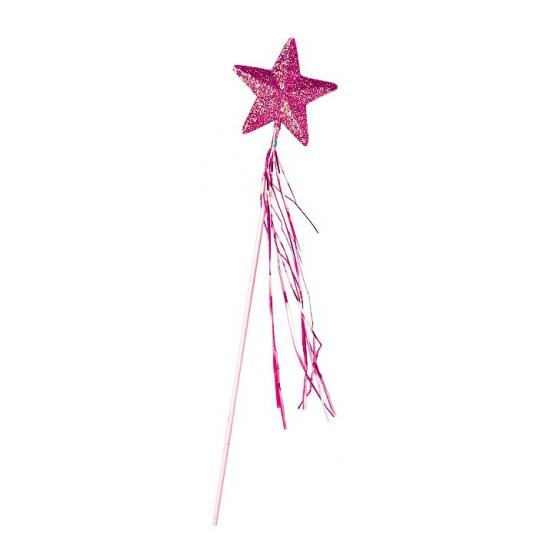 Roze toverstaf met ster