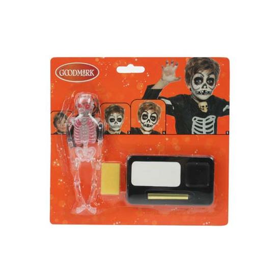 Schmink set skelet Geen Verkleedaccessoires