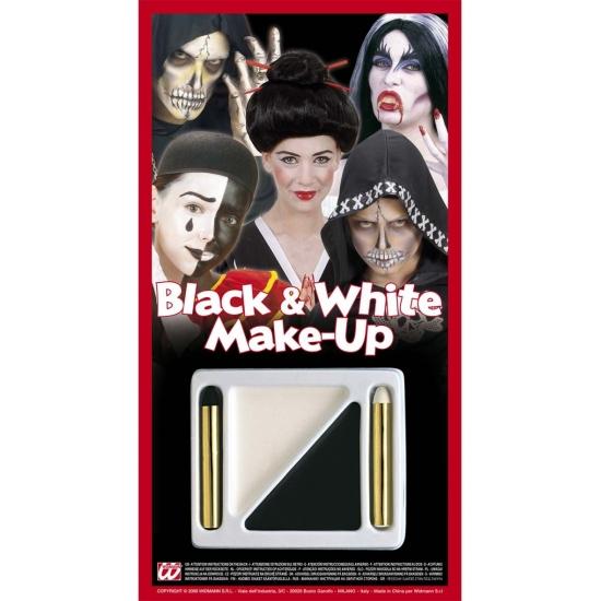 Geen Schmink setje zwart wit Verkleedaccessoires