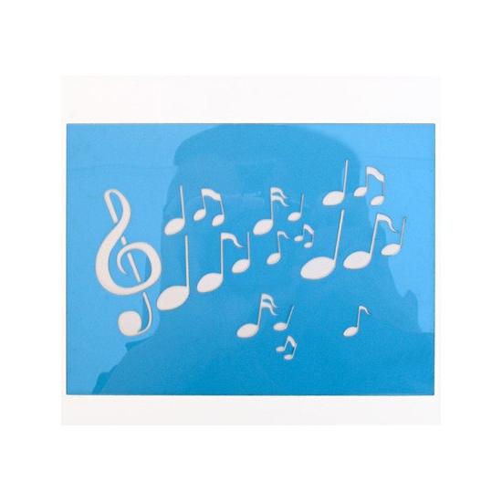 Verkleedaccessoires Geen Schmink sjabloon muzieknoten