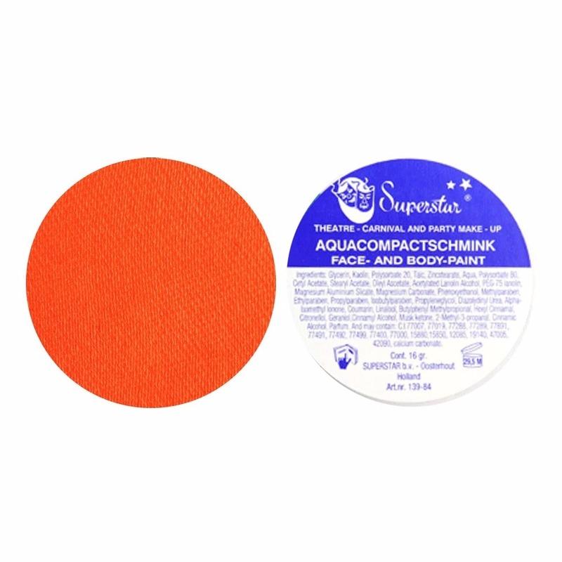 Verkleedaccessoires Superstar schmink oranje