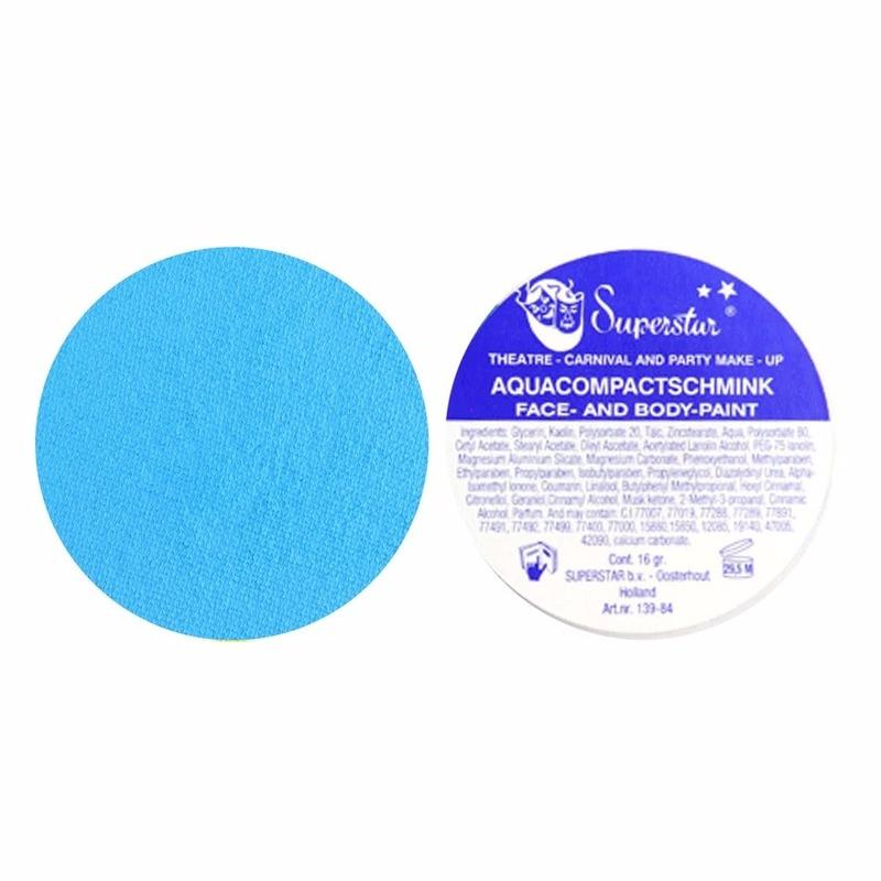 Verkleedaccessoires Superstar schmink pastel blauw