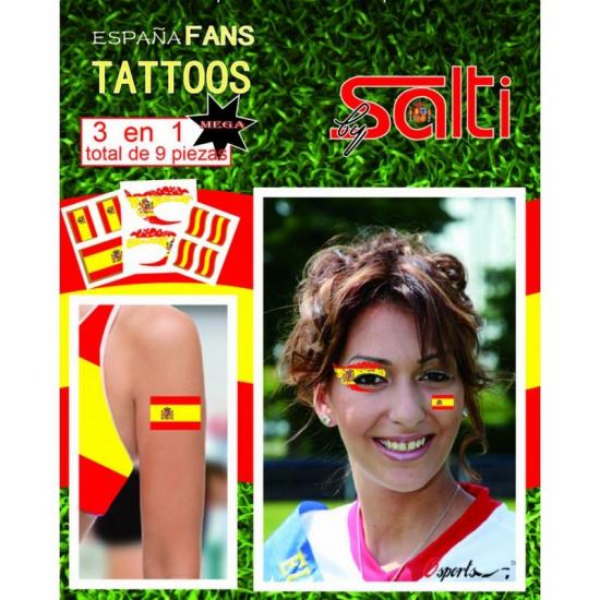 Geen Tattoos Spanje 9 stuks Verkleedaccessoires