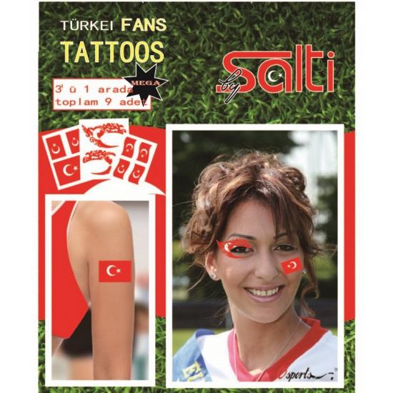 Verkleedaccessoires Geen Tattoos Turkije 9 stuks