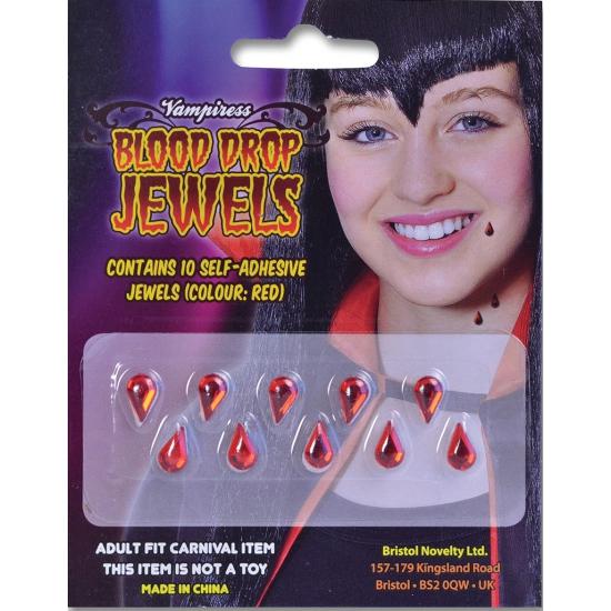 Tien bloeddruppels plakjuwelen Geen Halloween feestartikelen