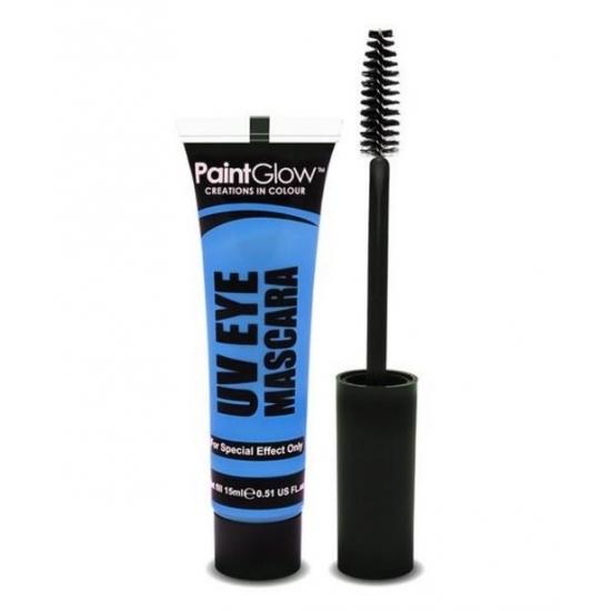 UV oog mascara blauw PaintGlow Verkleedaccessoires