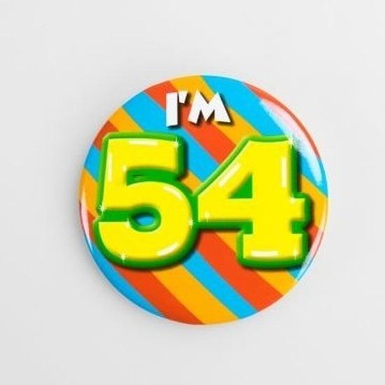 Verjaardags button I am 54