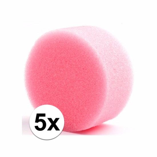 Shoppartners Vijf ronde grimas schmink sponsjes Verkleedaccessoires