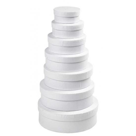 Witte ronde doos 16,5 cm