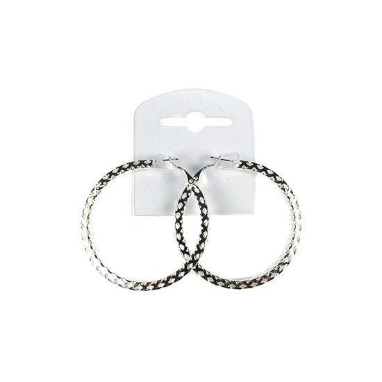 Zilveren creolen 5,5 cm
