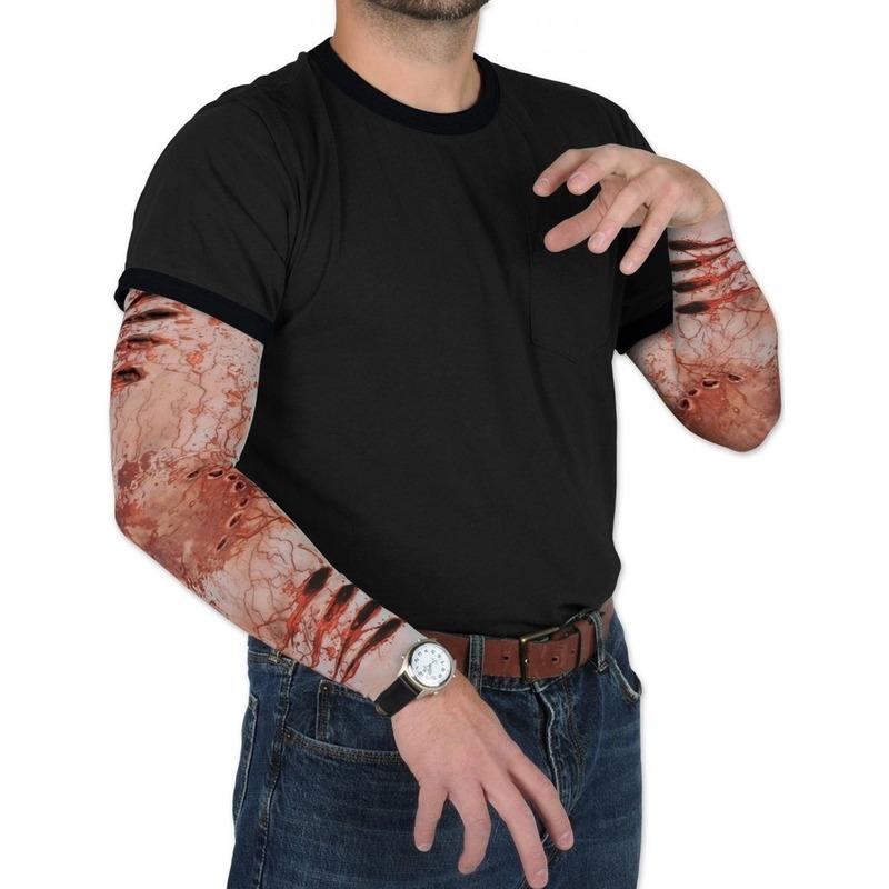 Zombie Halloween verkleedaccessoire mouwen voor volwassenen Geen nieuw