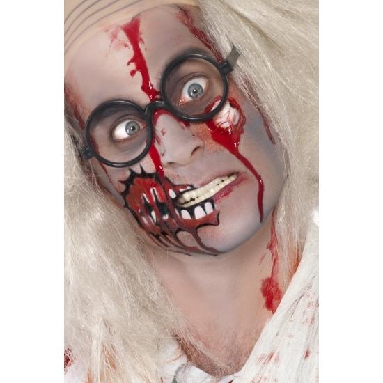 Smiffys Zombie schmink set met litteken Halloween feestartikelen